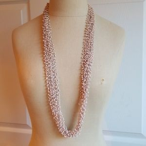 Multi layer, Blush necklace.